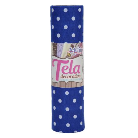 Rollo Tela Puntos Grandes 20 cm 3m Azul
