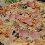 Pizza Grande Champiñones&jamón de Pavo