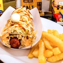 Hot Dog Pollo y Champiñones