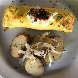 Omelette con Queso de Cabra