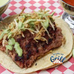 Taco Rib Eye con Chorizo Argentino