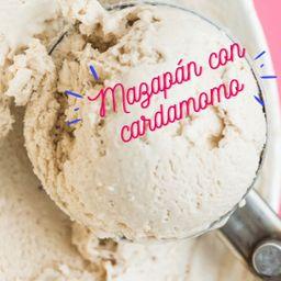 Helado Mazapán con Cardamomo