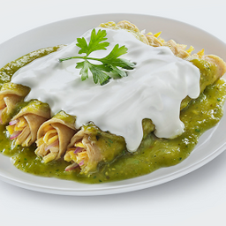 Enchiladas o Chilaquiles Suizos