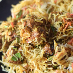 Hyderabadi Mutton Dum Briyano With Raita
