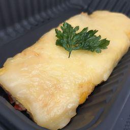 Omelette de Hongos y Confit de Cebolla
