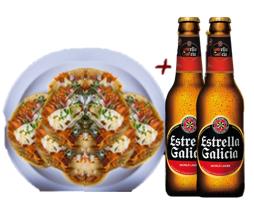 6 Tacos de Pastor + 2 Cervezas Estrella Galicia 30% Off