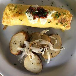 Omelette de Salmón Ahumado