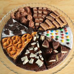 Pizza Brownie con Toppings
