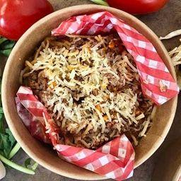 Spaguetti con salsa bolognesa rustica