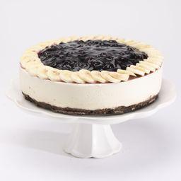 No-bake Cheesecake Blueberry con Plátano