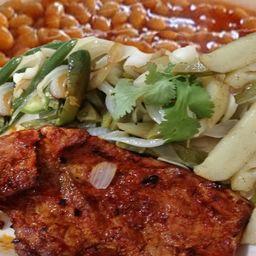 Carne Enchilada con Guarnicion