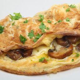 Omelette de champiñones y queso panela