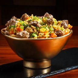 Yakimeshi de carne
