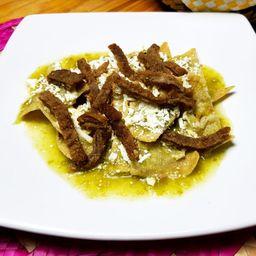 Chilaquiles con Milanesa