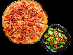 Pizza grande + Ensalada