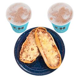 2 Café con Leche Caliente + Molletes