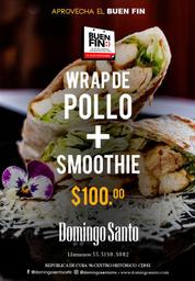 Promo: Wrap de pollo + Smoothie 🍶