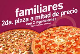 Promo Segunda Pizza 50% OFF