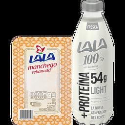 Rappicombo Lala 100 sin lactosa + Queso Manchego Rebanado