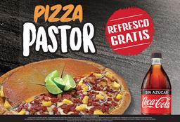 Pizza Tradicional Pastor Grande + Refresco Familiar GRATIS