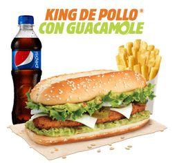 Combo King de Pollo con Guacamole