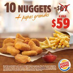 10 Nuggets y Papas Grandes
