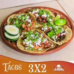 3x2 en Tacos