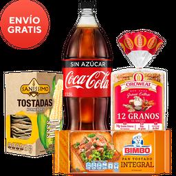 Rappicombo Oroweat + Coca Sin Azúcar + Saníssimo