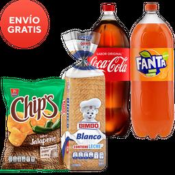 Rappicombo Fanta + Coca Cola + Pan Bimbo Grande + Chips Jalapeño