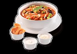 Sopa de Tortilla Grande (500 mL) + Refresco 355 mL