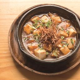 Mapo tofu de camarón