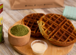 Protein Waffles Matcha