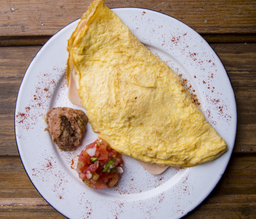 Omelette jamon y queso