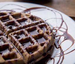 Waffle de chocolate abuelita