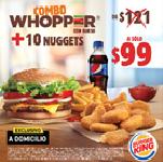 Combo Whopper con Queso + 10 Nuggets