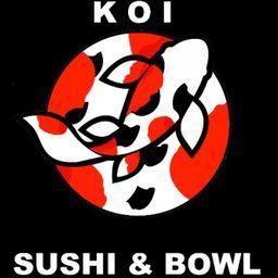 Koi sushi and bowl