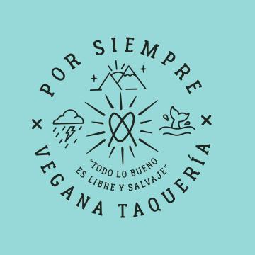 Logo Por Siempre Vegana Taquería