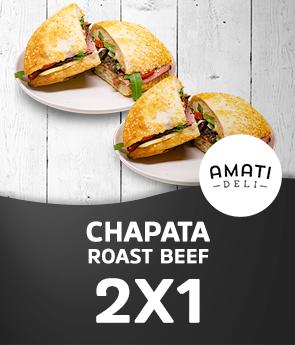 2x1 Chapata Roast Beef
