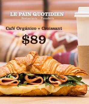 Café Organico + Croissant 89
