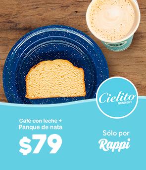 Café Con Leche Caliente + Panqué De Nata